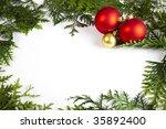 christmas frame | Shutterstock . vector #35892400