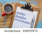 decision  discipline  and... | Shutterstock . vector #358925972