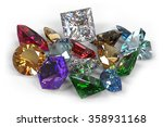 gem stones isolated on white | Shutterstock . vector #358931168