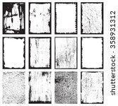 set of grunge texture frames... | Shutterstock .eps vector #358931312