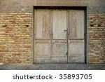 Ancient Wooden Door In...