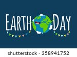 happy earth day poster. vector... | Shutterstock .eps vector #358941752