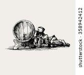 vintage vector hand drawing of... | Shutterstock .eps vector #358942412
