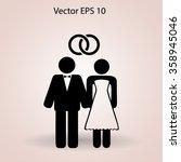marriage vector icon | Shutterstock .eps vector #358945046