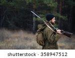 brutal hunter  bearded man in... | Shutterstock . vector #358947512