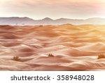 sundown over desert landscape....   Shutterstock . vector #358948028