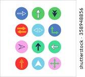 arrow icon set. vector...