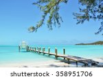 yacht at the wooden jetty.... | Shutterstock . vector #358951706