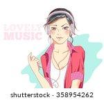 illustration girl vector...
