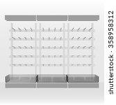 cabinet with hooks for goods...   Shutterstock .eps vector #358958312