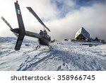 Helicopter In The Alps