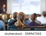 speaker giving a talk at...   Shutterstock . vector #358967342