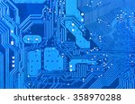 close up of a printed blue... | Shutterstock . vector #358970288