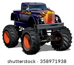 Cartoon Monster Truck....