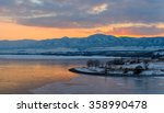 Sunset Ice Lake   A Winter...