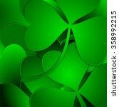 green clover background | Shutterstock .eps vector #358992215