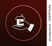 donation icon | Shutterstock .eps vector #358997696