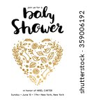baby shower card invite. baby... | Shutterstock .eps vector #359006192