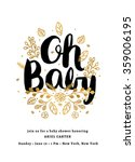 baby shower invitation template | Shutterstock .eps vector #359006195