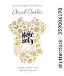 baby shower invite design. baby ... | Shutterstock .eps vector #359006198