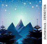 winter snowfall drop mountain... | Shutterstock .eps vector #359007506