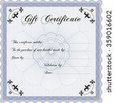 vector gift certificate.... | Shutterstock .eps vector #359016602