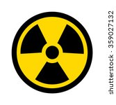 yellow radioactive   radiation... | Shutterstock .eps vector #359027132