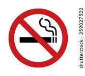 No Smoking Sign   Symbol Flat...
