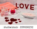 valentines day spa word love ... | Shutterstock . vector #359030252