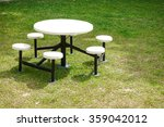 white table and white chairs on ...   Shutterstock . vector #359042012
