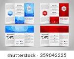 design folding brochures with... | Shutterstock .eps vector #359042225