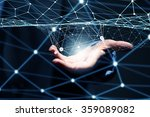 wireless connection futuristic... | Shutterstock . vector #359089082