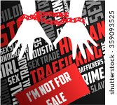 human trafficking vector... | Shutterstock .eps vector #359093525
