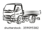 delivery truck  sketch. | Shutterstock .eps vector #359095382