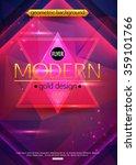 modern flyer  geometric style.... | Shutterstock .eps vector #359101766