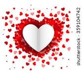 valentine's day heart... | Shutterstock .eps vector #359104742