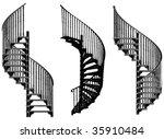 Spiral Staircase Vector 05