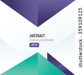 vector triangle design violet... | Shutterstock .eps vector #359109125