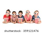 group of children with 3d...   Shutterstock . vector #359121476