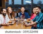 friends taking selfie by... | Shutterstock . vector #359132498
