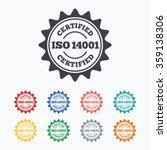 iso 14001 certified sign icon.... | Shutterstock .eps vector #359138306