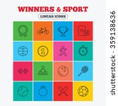 winners and sport icons. winner ... | Shutterstock .eps vector #359138636