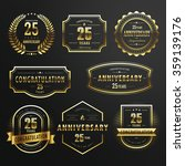 collection of commemorate... | Shutterstock .eps vector #359139176