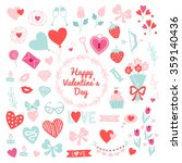 collection of st. valentine's... | Shutterstock .eps vector #359140436