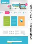 business one page website... | Shutterstock .eps vector #359148536