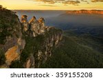 sunrise in blue mountains. view ...   Shutterstock . vector #359155208