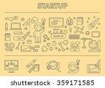 line design concept horizontal... | Shutterstock .eps vector #359171585