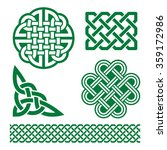 celtic green knots  braids and... | Shutterstock .eps vector #359172986