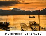 tour boats in mekong river ... | Shutterstock . vector #359176352