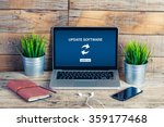 update software notification in ... | Shutterstock . vector #359177468